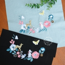 25x25 Handmade diy embroidery cloth will be dyed with wild kapok hikou yumeizi embroidery chihuaou small animals in the forest fotoniobox лайтбокс nyc 25x25 105