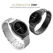 En Acier inoxydable Intelligent Bracelet Boucle En Métal Classique Montre Bracelet pour Samsung Vitesse S2 SSGS2MS