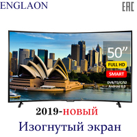 Телевизор 50'дюйма ENGLAON UA500SF смарт тв Android 8.0 fullhd dvb t2 smart tv UHD ledtv Curved tv 49 TVs