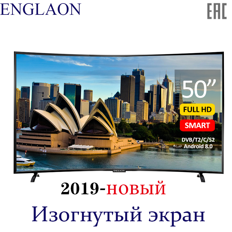 TV 50 pouces ENGLAON UA500SF 4 K Smart TV Android 6.0 DVB-T2 courbe LED TV sTelevision