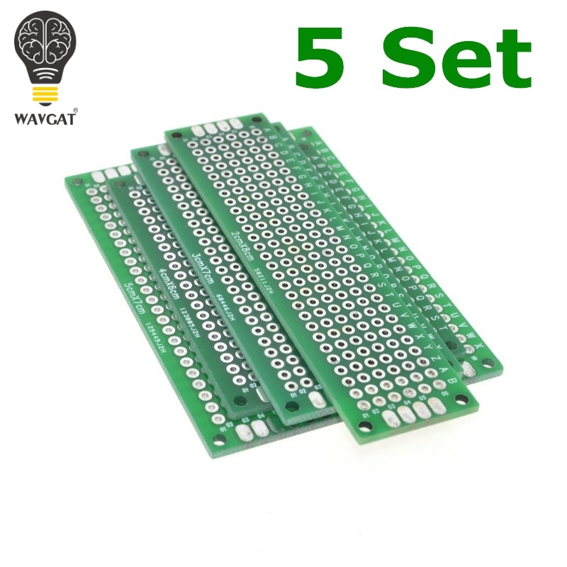 Free Shipping Dropshipping 20pcs 5x7 4x6 3x7 2x8cm double Side Copper prototype pcb Universal Board Fiberglass board for Arduino ...