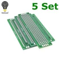 Бесплатная доставка Dropshipping 20 штук 5×7 4×6 3×7 2×8 см Двусторонняя Медь прототип PCB универсальный совет стекловолокна доска для Arduino