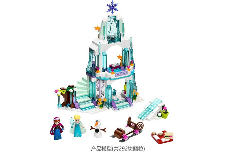 2018 New Playmobil Bela 10435 Girl Friends Elsa's Sparkling Ice Castle Anna Elsa For Queen Kristoff Olaf Building Blocks Toys 9pcs lot elsa anna clip hairpins hairclips headwear elsa anna olaf clips for girl fashion character party free shipping