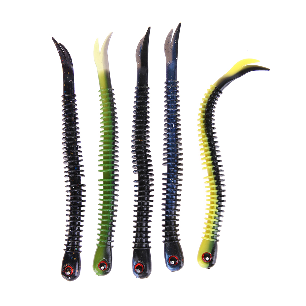 4pcs 13cm 5g Soft Worm Lure Lifelike Carp Fishing Lure Bait Tackle Earthworm Bass Fishing Lures For Ocean Boat Beach Fishing allblue slugger 65sp professional 3d shad fishing lure 65mm 6 5g suspend wobbler minnow 0 5 1 2m bass pike bait fishing tackle