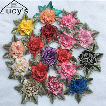 12x10CM 10 pieces/lot 13Colos 3d embroidered patches