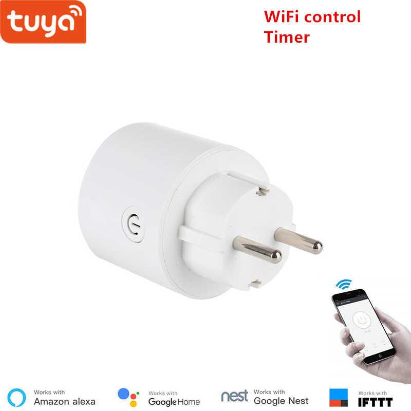 Tuya WiFi умная розетка беспроводной штекер EU умный дом переключатель  совместим с Google home и Alexa 4df3a1fd1f2