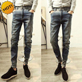 Hot Style Vintage gradient Do Old Jeans Men HIp Hop Slim FIt Casual Overalls Cargo Pencil Pants Teenagers Cuffed Bottoms 28-34