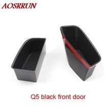 2 шт. черный бежевый серый спереди двери контейнера подлокотник коробка для хранения для Audi A4 Q5 автомобильные аксессуары для укладки авто Чехлы подкладке