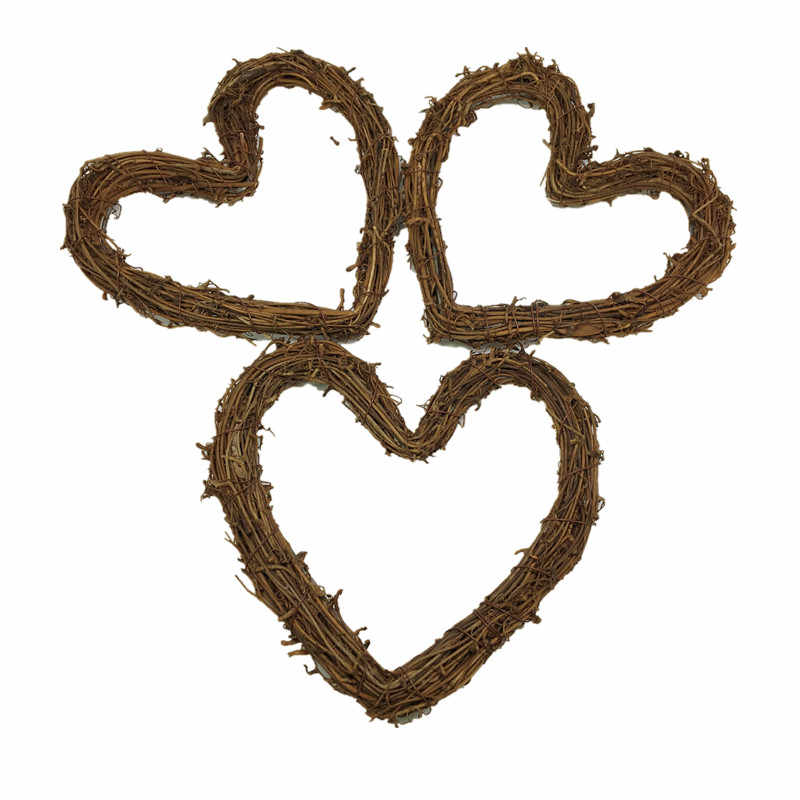 1pc Diy Crafts Rattan Heart Natural Dried Grapevine Wreath Xmas Garland Home Wedding Party Decor Party Diy Decorations Aliexpress