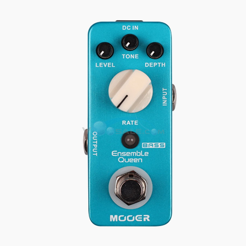 Mooer Ensemble Queen Bass Chorus Guitar Effect Delay Pedal  True Bypass Full Metal Shell Guitar Parts & Accessories mooer ensemble queen bass chorus effects effect pedal true bypass rate knob high quality components depth knob rich sound