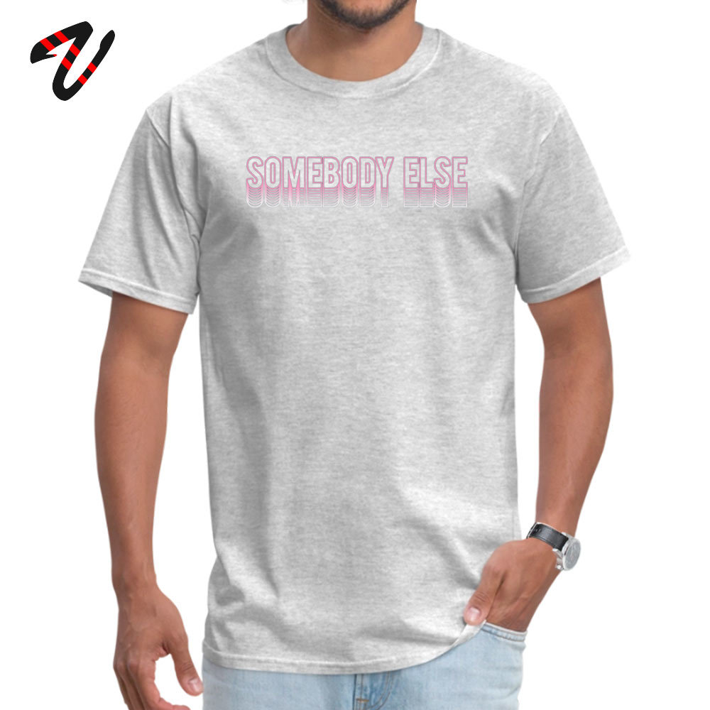 Somebody else 2019 New Fashion Design T-shirts Round Collar 100% Cotton Short Sleeve Tops Shirts for Men T-Shirt April FOOL DAY Somebody else 26148 grey