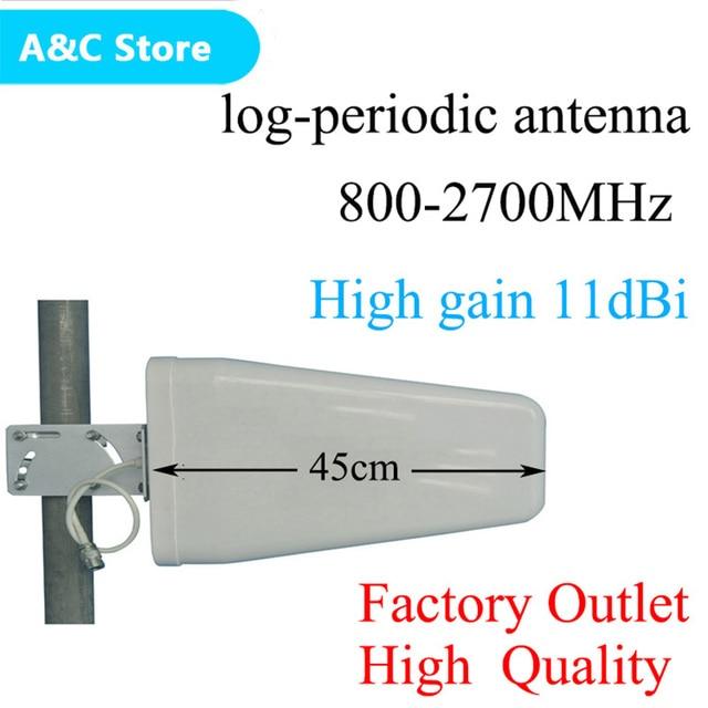 Antena ao ar livre de cdma/gsm dcs, ganho alto de 11dbi 800 ~ 2700mhz n fêmea booster de sinal aws wcdma lte, frete grátis