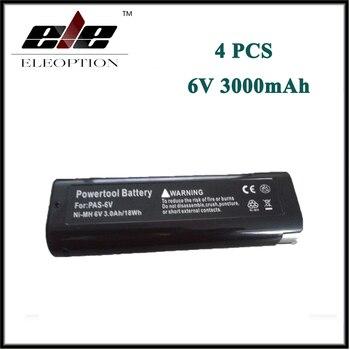 4PCS ELEOPTION Power Tool Battery for Paslode 6V 3000mAh Ni-MH B20544E,404717 BCPAS-404717SH IM250A-F16,IM65A,F16 ,900420,900600