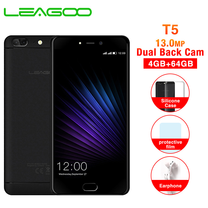 LEAGOO T5 5 5 Inch FHD Mobile Phone Android 7 0 MTK6750T Octa Core 4GB RAM