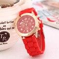 Силиконовые Женеве Часы Relogio Feminino Мода Женщины Наручные Часы Повседневная Роскошные Часы Горячий Продавать