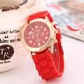 Silicón de Ginebra Del Reloj Relogio femenino Moda Mujeres Reloj de Lujo Casual Relojes Venta Caliente