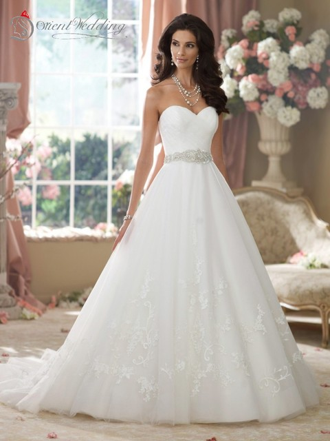 New Off The Shoulder Sweetheart Neckline A Line Wedding Dress Belts And Sashes Gowns