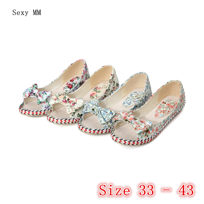 Summer Slip On Shoes Girl Flats Peep Toe Women Flat Shoes Soft Comfortable Shoes Woman Small Plus Size 33 34 - 40 41 42 43 spring summer flock women flats shoes female round toe casual shoes lady slip on loafers shoes plus size 40 41 42 43 gh8