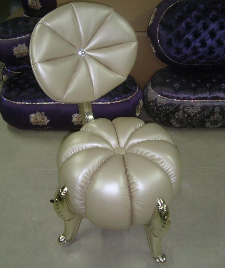 Galleria fotografica Nuovo classica zucca divano sgabello casa di fascia alta per il tempo libero cantare sedia