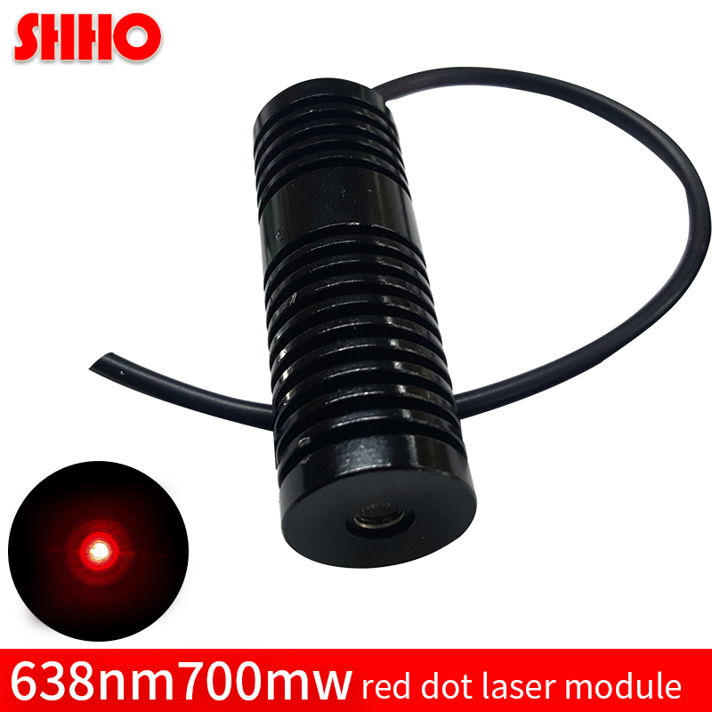638nm 700mw big power adjustable red dot laser module red point optical element laser engravers laser focusing high quality цена