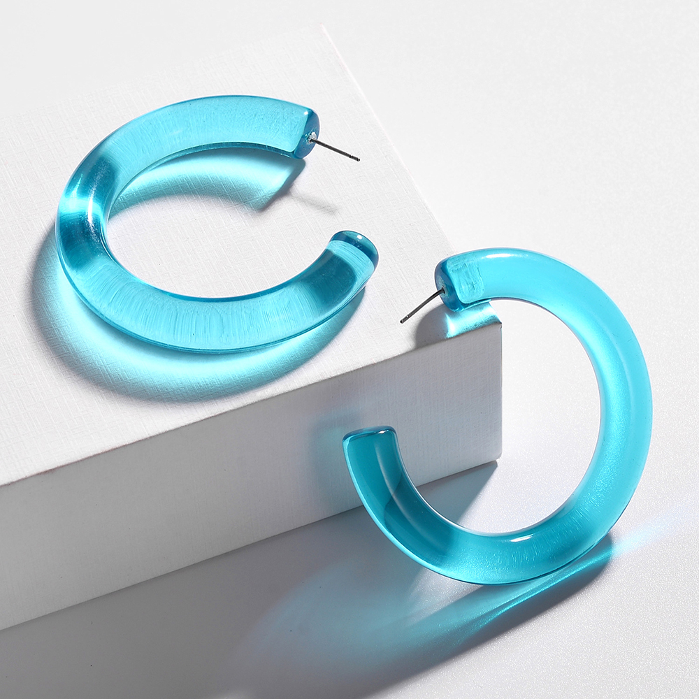 New-Trendy-Tansparent-Big-Circle-Hoop-Earrings-for-Women-Multicolor-Acrylic-Round-Geometric-Statement-Earrings-Za