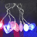 50 unids/lote led light up collar de varios colgante luz intermitente collar partido embroma el regalo de cumpleaños de la navidad suministra juguetes