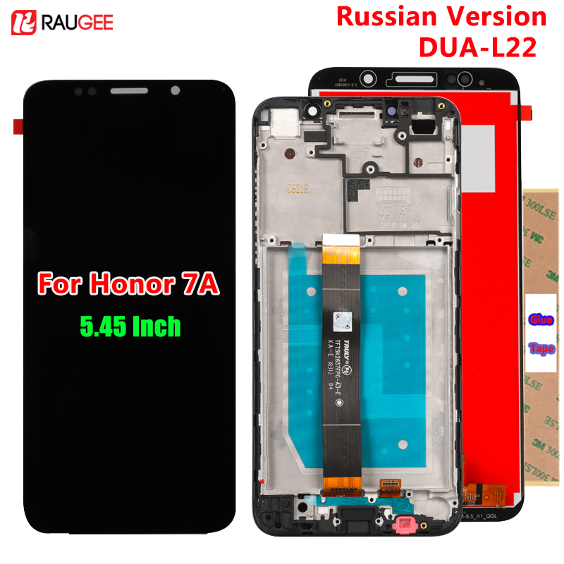 Para huawei honor 7a display lcd tela de toque novo digitador assembléia substituição para huawei honor 7a versão russa DUA-L22 5.45