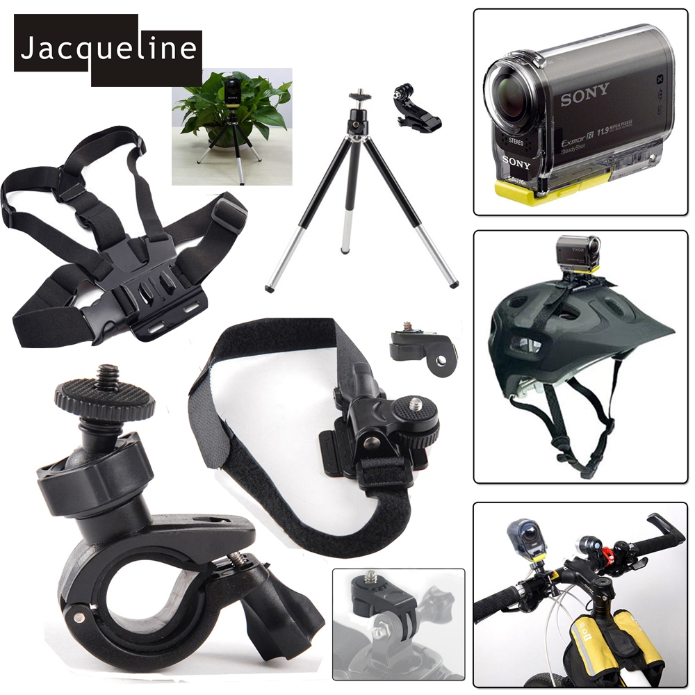 Jacqueline For Ion Air Pro 2/3 Helmet Mount Kit for Sony Action Cam HDR AS20 AS200V AS15 AS30V AS100V AZ1 mini FDR-X1000V/W 4 k