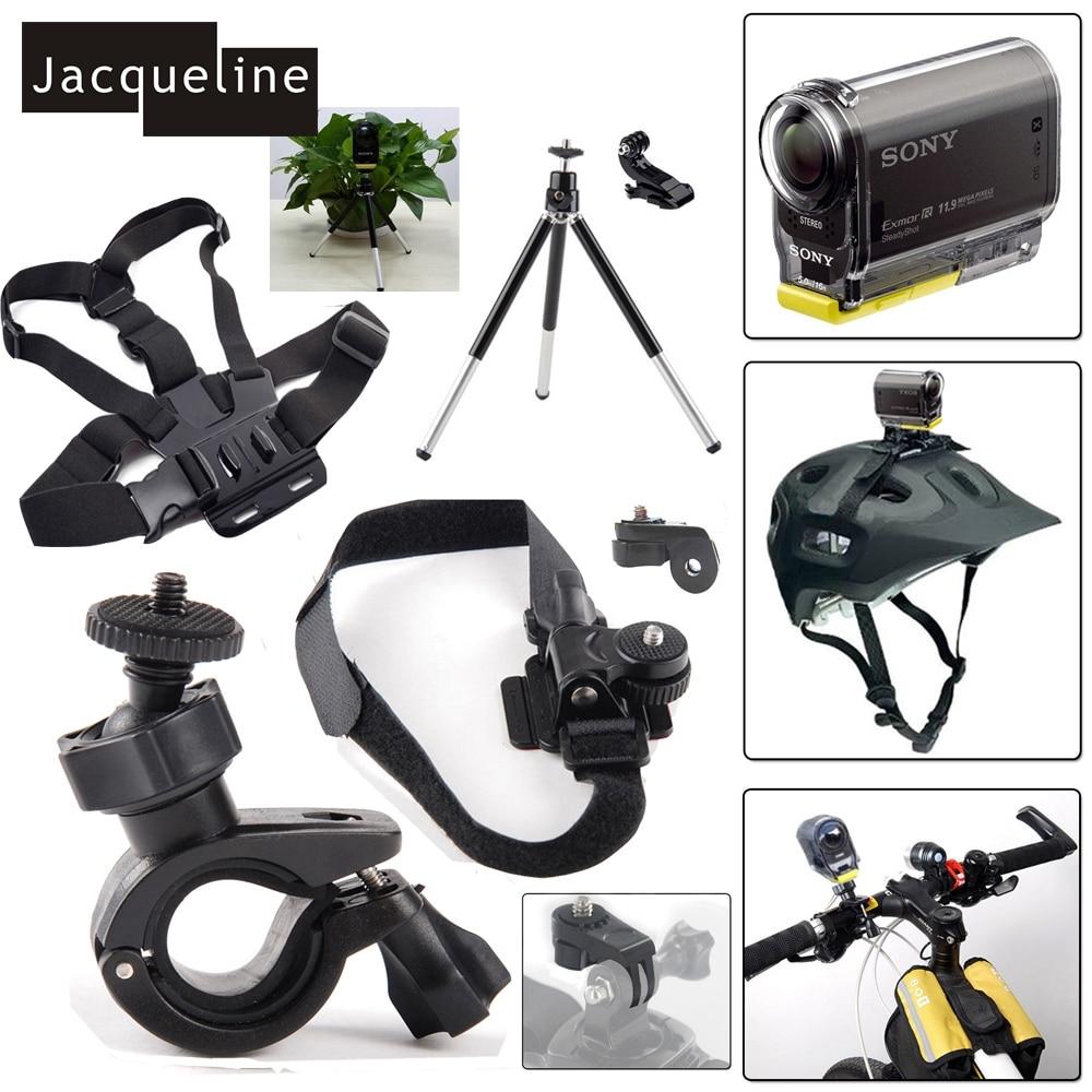 Jacqueline For Ion Air Pro 2/3 Helmet Mount Kit for Sony Action Cam HDR AS20 AS200V AS15 AS30V AS100V AZ1 mini FDR-X1000V/W 4 k