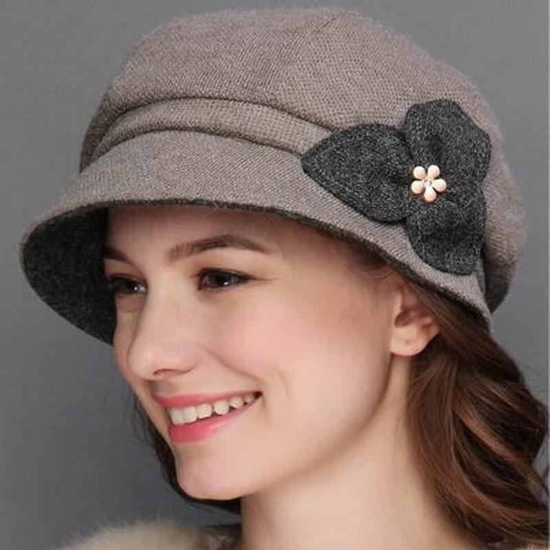 447312d08ec 2018 New Hats For Women Soft Lady Wool Felt Bowler Fedora Hat Winter New  Warm Fashion Hats Women's Hat Cap