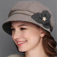 2018 New Hats For Women Soft Lady Wool Felt Bowler Fedora Hat Winter New Warm Fashion Hats Women's Hat Cap