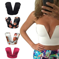 2016 Sexy Deep V Tops Women's Plunge Bustier Bra Crop Tops Blouses Party Club Wear H9