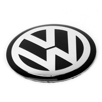 4 pcs 65 MM 6.5 ซม. สีดำศูนย์ล้อรถ Hub Hub หมวกป้ายสัญลักษณ์ VW โลโก้ล้อรูปลอกสติกเกอร์จัดแต่งทรงผมสำหรับ VW