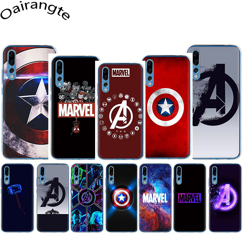 <font><b>Marvel</b></font> avengers Logo Hard <font><b>Phone</b></font> Cover <font><b>Case</b></font> for Huawei Honor 6A 6C Pro 7A 2GB 3GB Pro 7X 8 C Lite X 9 10 Lite Play image