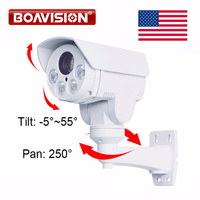 US Store To US Rotary 1080P Outdoor Bullet PTZ IP Camera 2 0MP 10X Zoom 80M