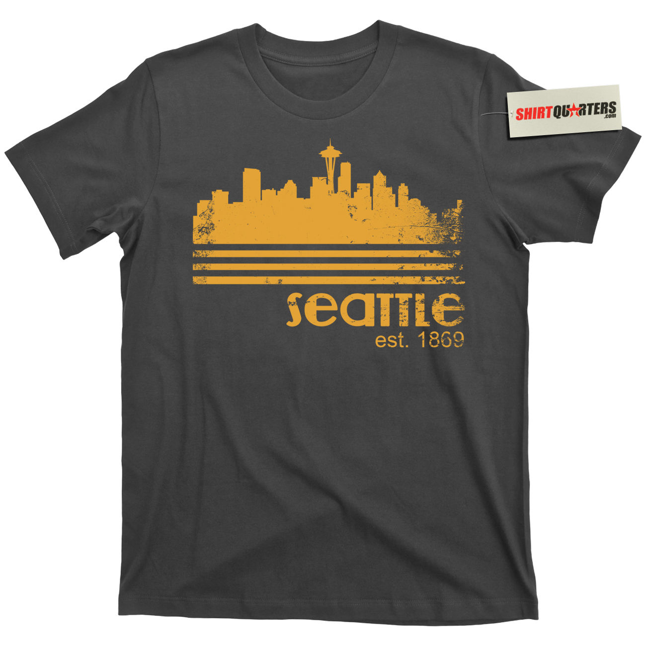 2019 Funny City Of Seattle Washington Portland Pacific Ocean Vintage Coffee 80S T Shirt Tee Unisex Tees image