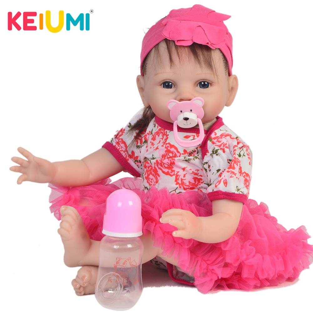KEIUMI New Design 22 Inch Newborn Baby Doll Cloth Body Realistic Lovely Baby Doll Toy For Children's Day Kid Christmas Gifts keiumi real 22 inch newborn baby doll cloth body realistic lovely baby doll toy for children s day kid christmas xmas gifts