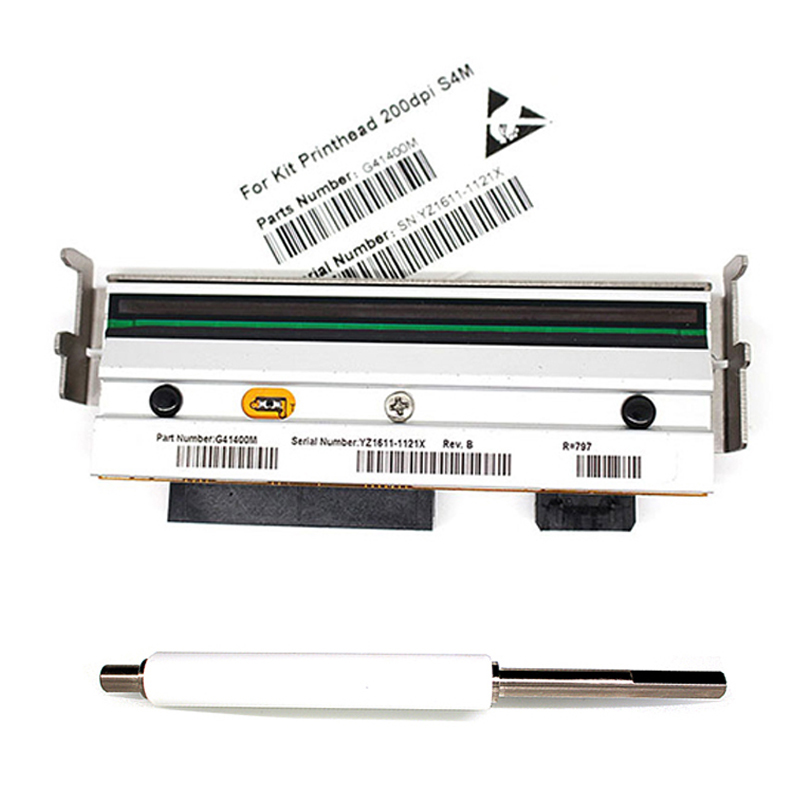 New Compatible G77023M Platen Roller G41400M Printhead Print Head For Zebra S4M 203dpi Thermal Barcode label Printer print head new original for zebra s400 200dpi thermal barcode label printer printer part printing accessories printhead 44999m