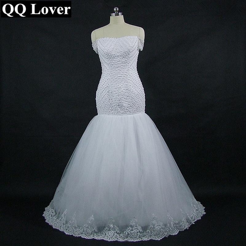 QQ Lover 2018 African Mermaid Wedding Dress Custom Made Plus Size ...