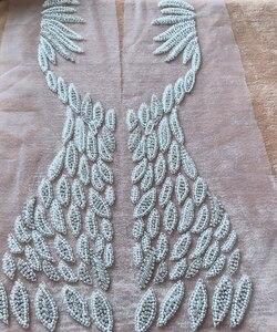 Image 5 - Handgemaakte kralen strass parel trim patches sew op applique 55*31 cm voor jurk voor en achter