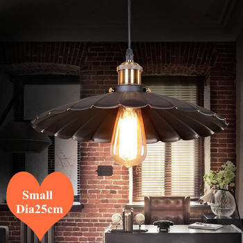 Loft&Warm creative  lotus leaf iron art pendant lights Industrial style E27 LED small hang lamps for porch&stairs&bar CYDD006A