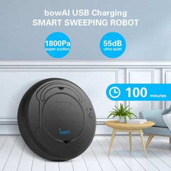 1800Pa Smart Sweeping Robot USB Charging Three Cleaning Modes Lazy People Cleaning Tools Intelligent Sweeper Low Noise