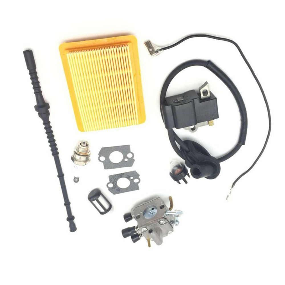 Karbüratör STIHL Için Contalar Hava yakit filtresi Kitleri FS120 FS200 FS250 FS300 Conta Filtre Ateşleme Bobini Karbüratör Kiti