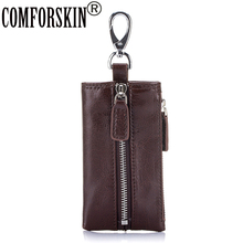 COMFORSKIN New Arrivals Key Housekeepers Multi-function Key Wallet Split Leather Key Holders 2019 Hot Band Designer Key Cases стоимость