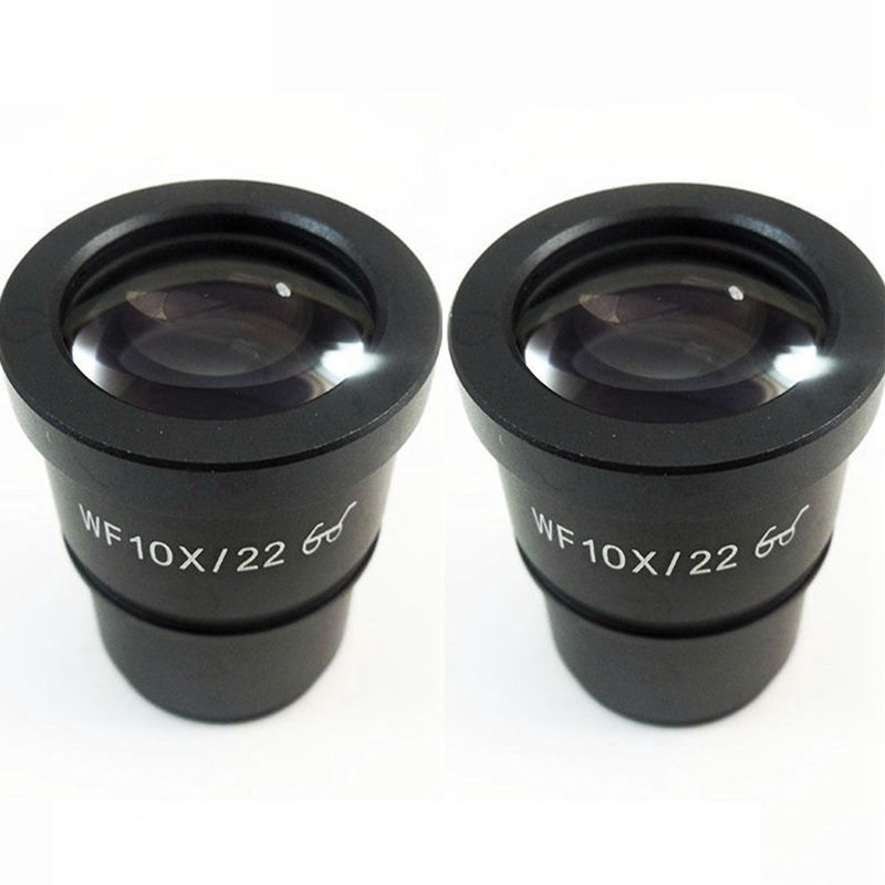 2PCS Wide Field WF10X/22 High Eye Point Microscope Eyepiece with Mounting Size 30.5mm for Stereo Microscope  цены