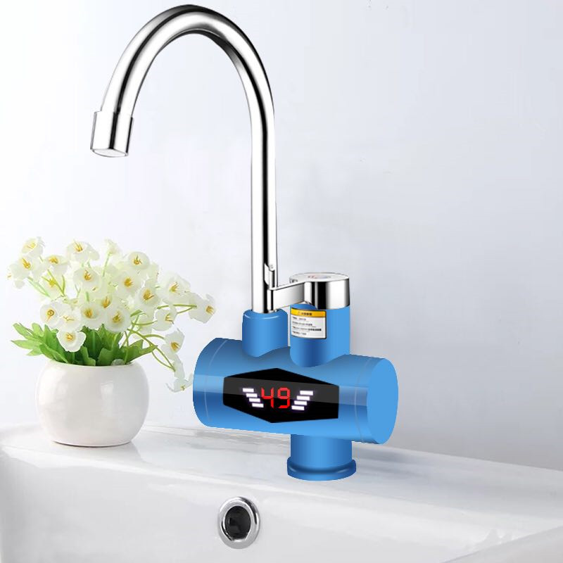 RX-015-4,Inetant Electric Heating Water Faucet,Digital Display Instant Hot Water Tap,Fast Electric Heating Water Tap