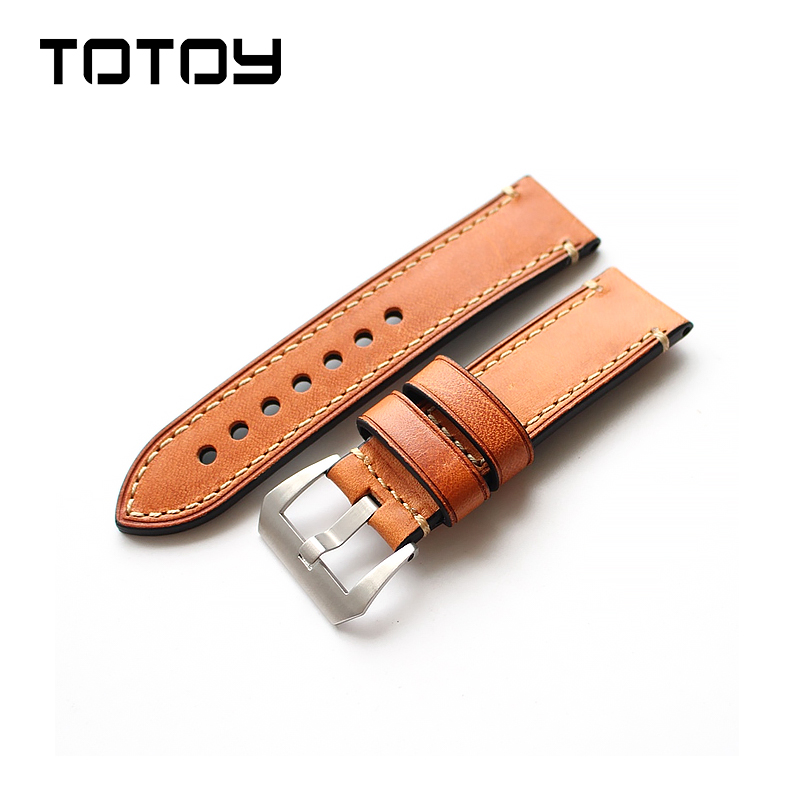 99fb1ede68e TOTOY Italian Orange Calfskin Watch Strap