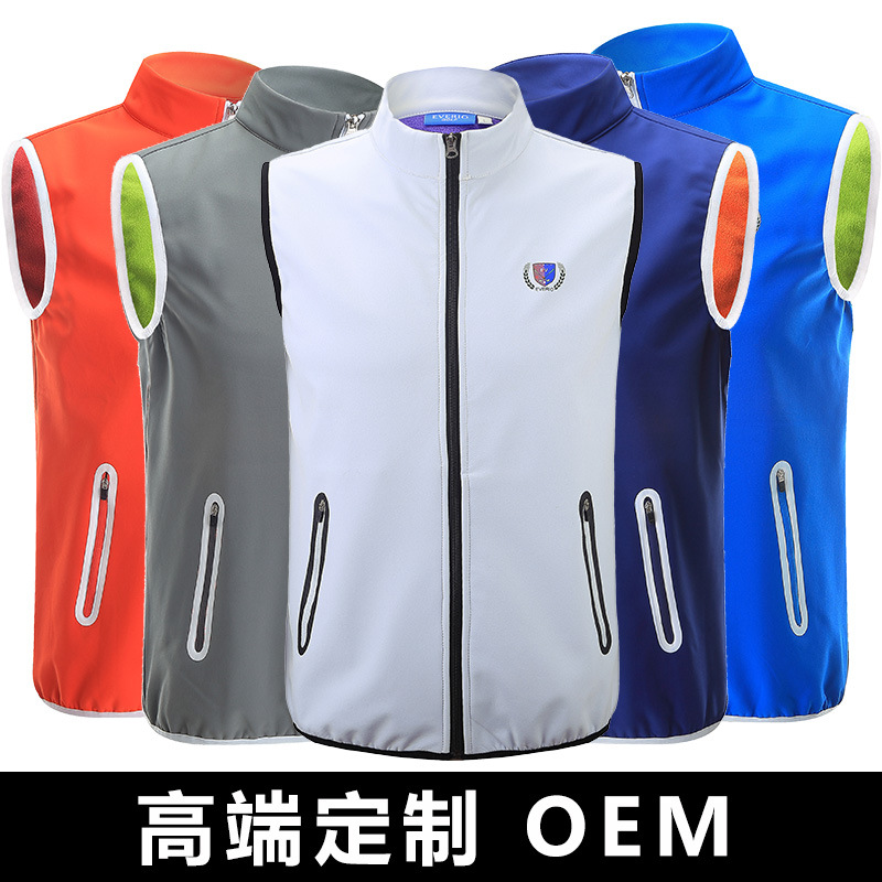 EVERIO Golf Apparel Mens clothes Vest Fall and Winter Tops Golf Sleeveless Casual Sports Jacket can Cycling Foot Basket Sport