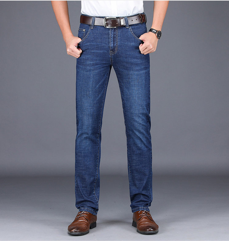 Business Men's Jeans For SS2019 New Collection Style, Boy's Denim Pants, Fashionable Used Wash And Suitable Fabric Quality, Blue(China)
