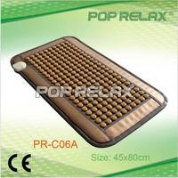 220PCS tourmaline stone POP RELAX heating tourmaline magnetic therapy flat mat PR C06A Germanium stone physiotherapy pad 45x80cm